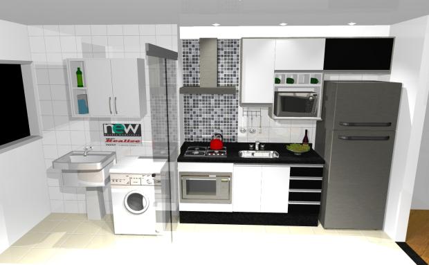 decoracao cozinha e area de servico integradas:cozinha-e-lavanderia-integradas (5) – Idéias de Decoração, faça