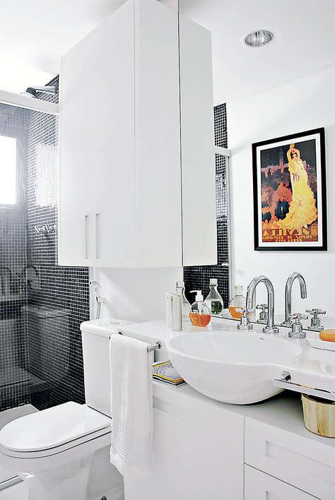 decorar um banheiro:Como decorar um banheiro pequeno.jpg 2 Como decorar um banheiro