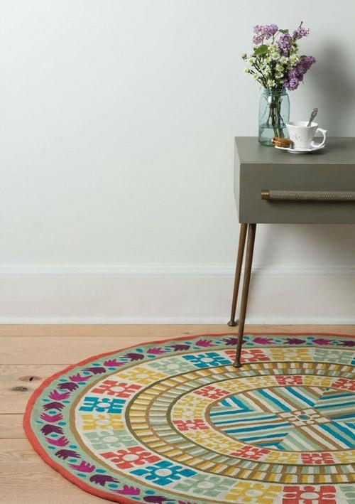 decoracao de interiores faca voce mesmo:Como usar tapete redondo